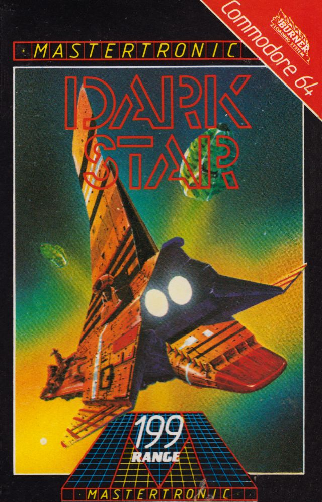 C64 Game Box Art for Mastertronic's Dark Star (One of the